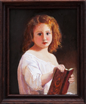 Girl Reading Story Book