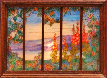 Hollyhock window